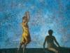 Due figure (Annunciazione), 2000, olio su tavola, cm 59x62