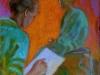 Modello e pittrice, 1998, olio su tela, cm 60x50