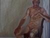 Nudo in atelier, 2002, olio su tela, cm 100x80