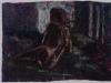 Nudo in atelier (Valery), 1992, pastello su carta preparata, cm 28x20