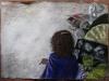 Requiem per l'arte contemporanea, 2011, pastello su carta nepalese, cm 50x70