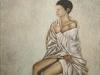 Trittico (Annunciazione), 2001, olio su tela, parte destra, cm 100x80