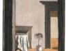 Interno, 2001, pastello cu carta nepalese,  cm30,8x23