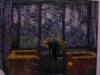 Interno a Gelsenkirchen, 1999, pastello su carta cabone, cm 20x27