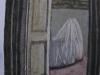 Interno con la culla, 2002, pastello su carta nepalese, cm 33x21