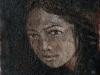 La ragazza indicibile, olio su tela, cm 30x20
