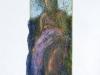Demetra,pastello su carta velina, cm 24,5x9,5