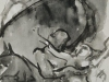 Rapimento di Kore, inchiostro sumi su carta da spolvero, cm 14,5x21
