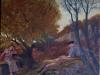 Atteone pianto da una ninfa, 2011, olio su tela, cm 27x35