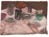 Colazione, 2009, pastello su carta nepalese, cm 33x49