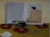 I pennelli del maestro (omaggio ad Arikha), 2011, pastello su carta velluto, cm 50x65