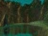 La baccante più giovane, 2007, olio su tavola, cm 33x70