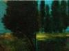Vita delle ninfe, dittico,  2009, olio su tavola, cm 18x65