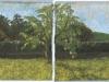 Giardino, 2007, pastello su carta nepalese, cm 25x65