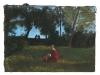 Paesaggio con figure (Y e E al parco di Sutri), 2001, pastello su carta nepalese, cm 25x34