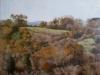 Paesaggio invernale nella Tuscia di pomeriggio, 2012, olio su tela, cm 100x120