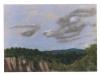 Paesaggio rupestre a S.Giovenale, 1998, pastello su carta velluto, cm 24x33