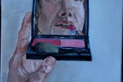 2 .me pinxit, olio su tela, 20x20, 2011