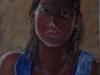 Diana, 2001, pastello su carta nepalese, cm 31x23