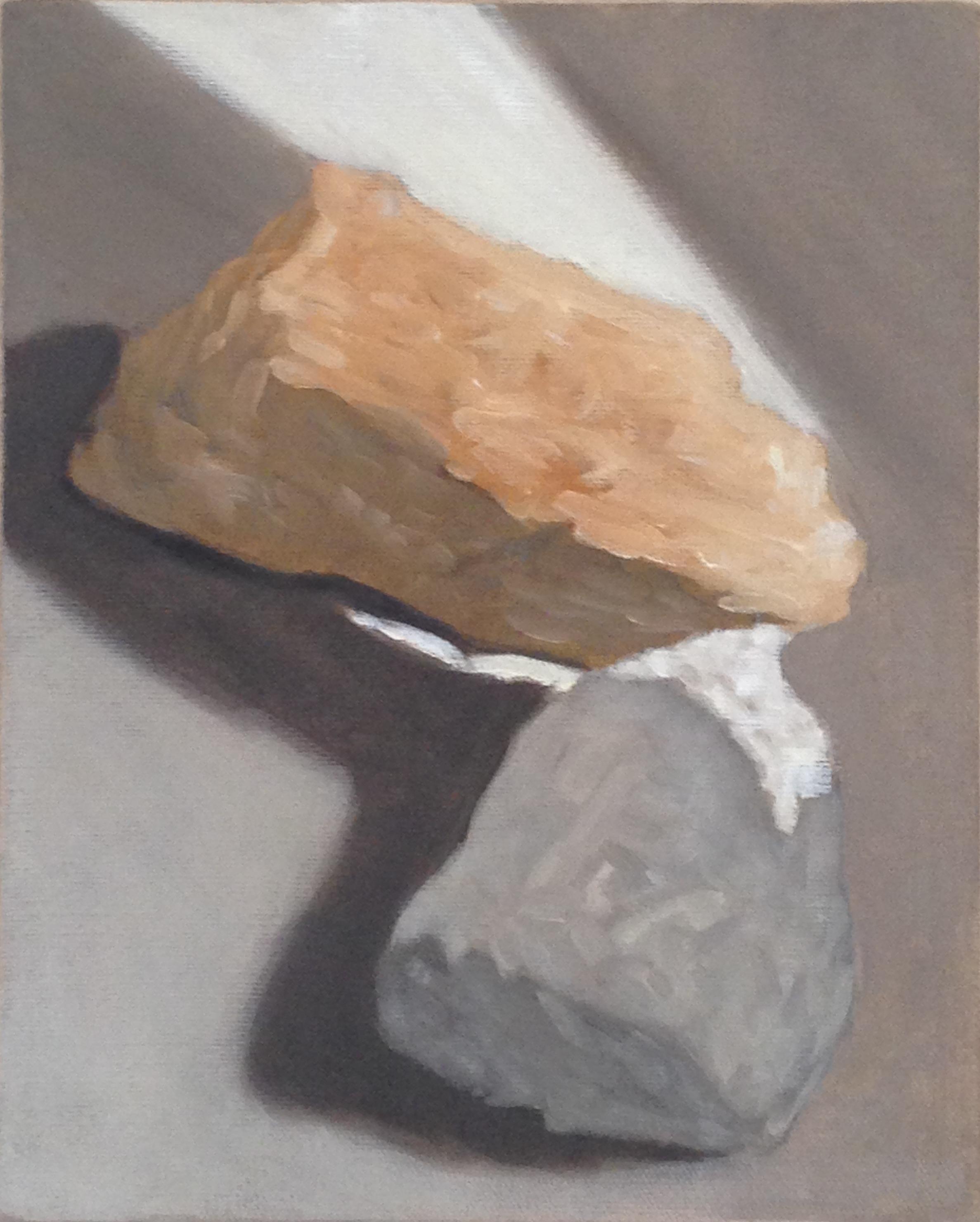 A 15) Pietre, olio su tela, 2017