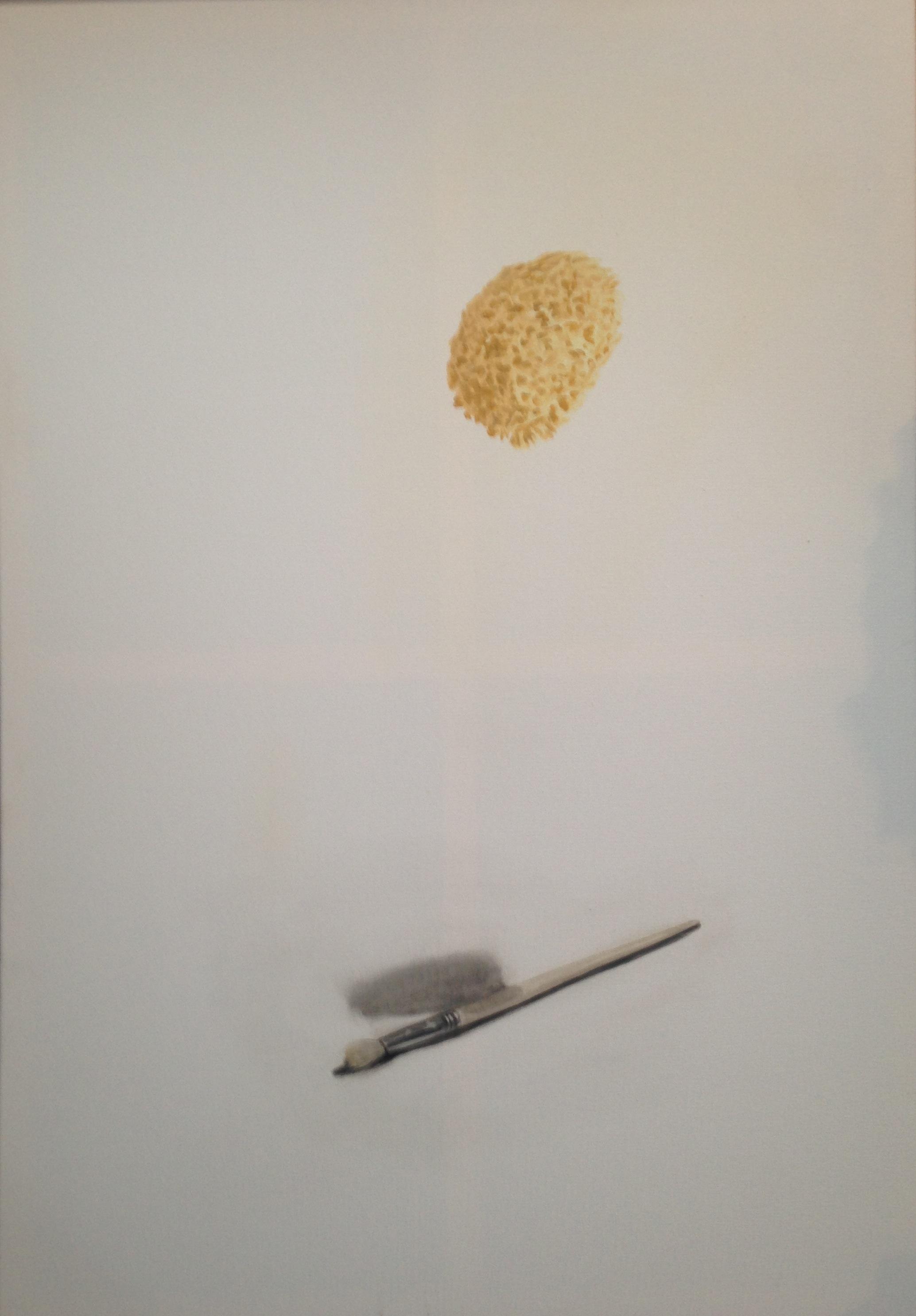A 7) Spugna e pennello, 2018, 100x70
