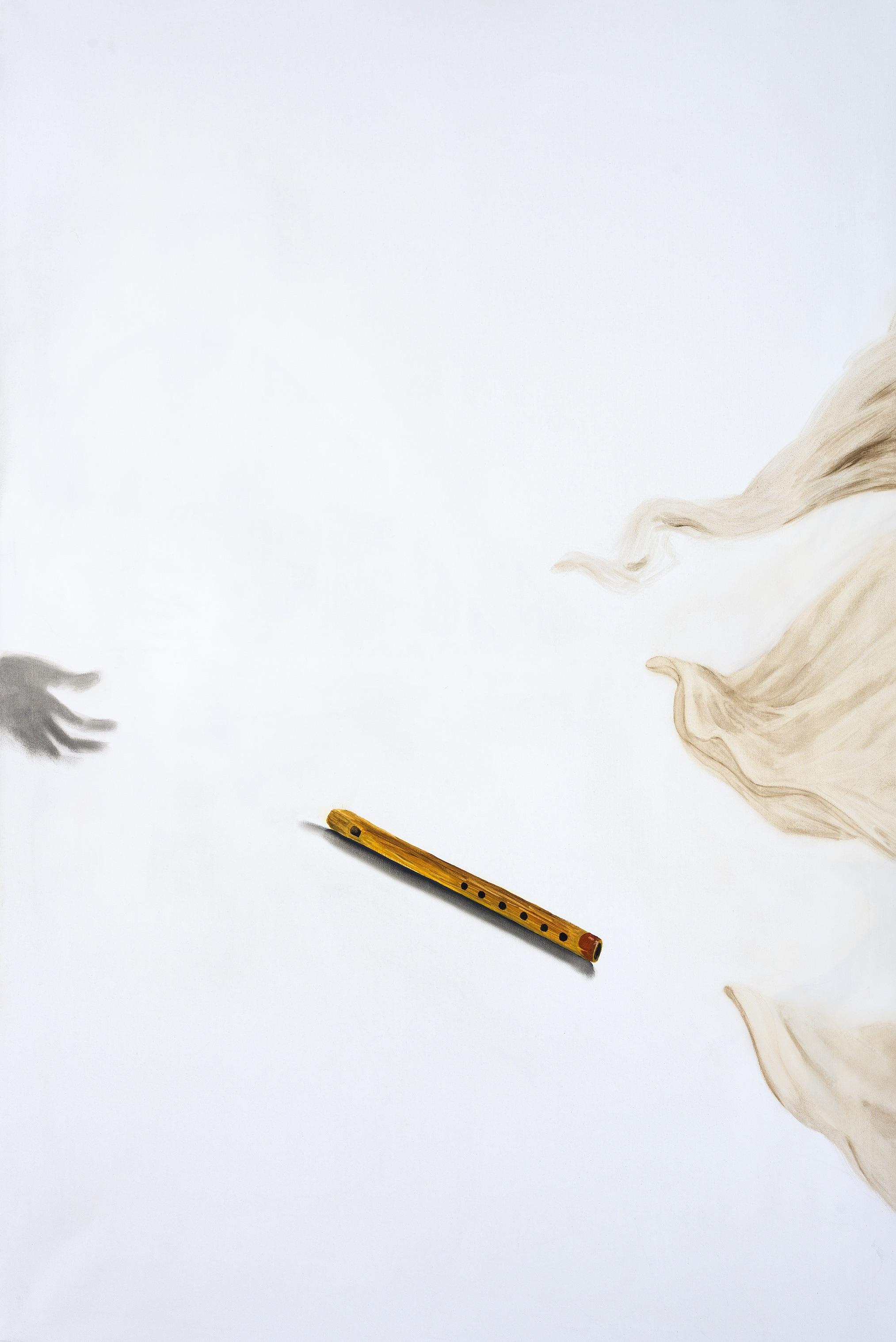 Flauto di Marsia, 2018, 150x110, olio su tela