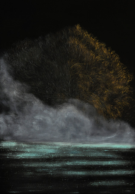 Paesaggio perduto VI (Colli Euganei), 2019, olio su tela, 100x70